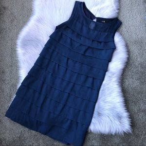 EUC Forever 21 navy silky layered dress